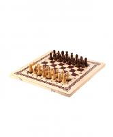 Игра 2 в 1 (шахматы (пластик), шашки) малая  Классика  (023-10)